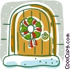 Vector Clipart illustration  of a reef on door