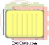suitcase drafting design Vector Clip Art image