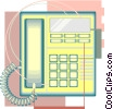 telephone drafting design Vector Clip Art picture