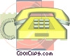 Vector Clip Art graphic  of a telephone drafting design