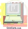 Vector Clip Art graphic  of a lap top computer drafting