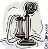 telephone, old telephone Vector Clipart picture
