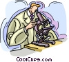 microscope Vector Clip Art graphic