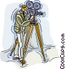 Vector Clip Art image  of a Camera man