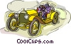 Vector Clip Art graphic  of a Race car