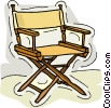 Vector Clip Art graphic  of a directors chair
