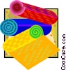 Vector Clip Art image  of a carpet industry