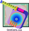 measuring tape Vector Clip Art graphic