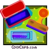 ink pad, stampers Vector Clipart illustration