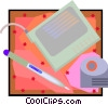 Vector Clip Art image  of a computer drawing tablet
