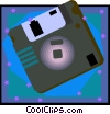 35mm diskette Vector Clipart picture