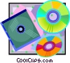 Vector Clip Art graphic  of a CD-ROM