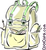 Vector Clip Art picture  of a School bag filled with