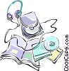 Vector Clipart graphic  of a Discman