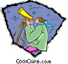 telescope, astronomy Vector Clipart illustration