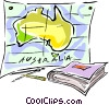 Australia, map Vector Clipart image