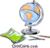 Vector Clip Art image  of a geography