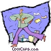 Vector Clip Art image  of a travel