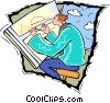 Vector Clip Art picture  of a drafting and design