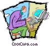 Vector Clip Art picture  of a computer