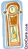 Vector Clip Art graphic  of a grand father clock