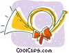 Christmas horn Vector Clip Art picture