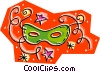 Vector Clip Art graphic  of a masquerade mask
