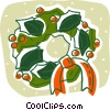 Christmas wreath Vector Clip Art image