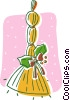 Christmas decoration, broom Vector Clip Art picture
