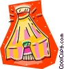 circus tent Vector Clipart image