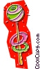 Vector Clip Art graphic  of a lolly pop