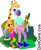 Vector Clipart graphic  of a zoo