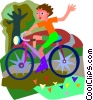 bike, bike ride Vector Clipart graphic