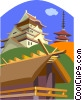 Japan, buildings Vector Clip Art picture