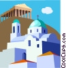 Parthenon, Greece Vector Clipart illustration