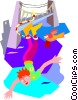 bungee jump, extreme sports Vector Clip Art picture
