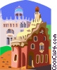 Vector Clip Art picture  of a Europe