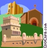 fort, fortress Vector Clipart picture