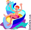 slide, swimming, water, summer Vector Clip Art picture