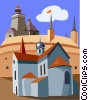 Vector Clipart illustration  of a building