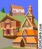 buildings, Norway Vector Clip Art picture