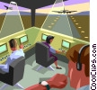Vector Clip Art picture  of an Air traffic control scene