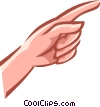 pointing with index finger Vector Clip Art image