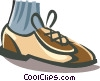 mans bowling shoe Vector Clip Art picture