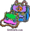 Vector Clip Art image  of a child's nap sack