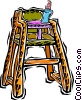 Vector Clipart graphic  of a high chair