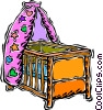 baby's crib Vector Clipart image