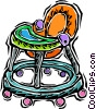baby walker Vector Clipart illustration