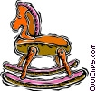 rocking horse, toy Vector Clipart graphic