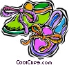 Vector Clip Art image  of a child's slippers